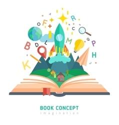 Book concept vector