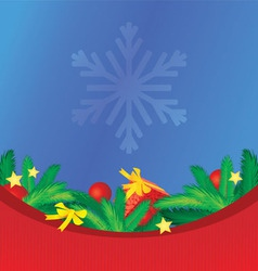 colorful christmas background with tree brunches vector image