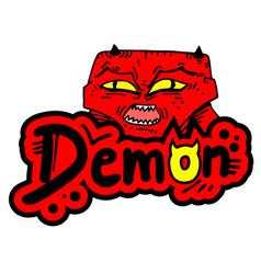 demon sticker vector image