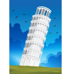 Leaning tower of pisa in italy vector