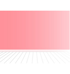 pink wall with white floor interior vector image vector image