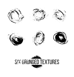 Set of Grunged Dots vector image vector image