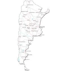 Argentina black white map vector