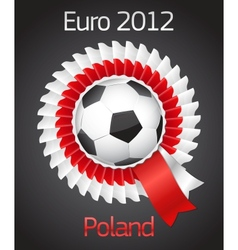 football poland ukraine badge symbol vector image vector image