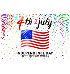 independence day poster 4th of july vector image