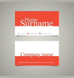 Modern simple vertical business card template vector image modern simple business card template with big name vector image vector image colourmoves