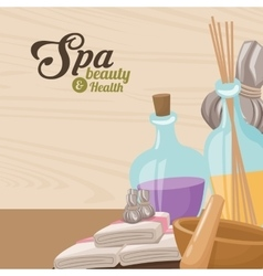 spa beauty and health towel aroma therapy herbal vector image