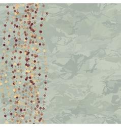 Vintage dots background vector image
