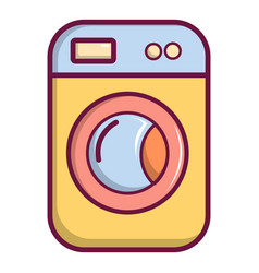 washing machine icon cartoon style vector image