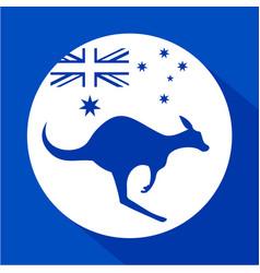 australia kangaroo icon vector image