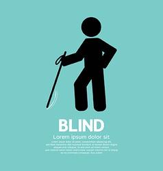 Blind Disabled Black Symbol Graphic vector image