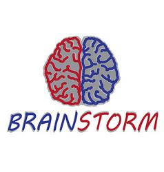 brain icon vector image vector image