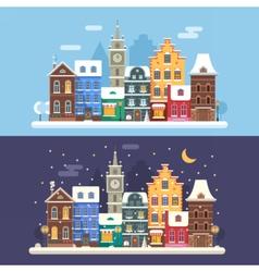 Christmas City Banners vector image