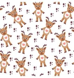 Cute cartoon reindeer seamless texture children s vector