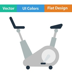 Flat design icon of Exercise bicycle vector image