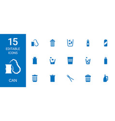 15 can icons vector