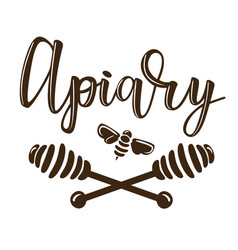 A apiary lettering vector