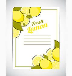 abstract lemon natural background vector image