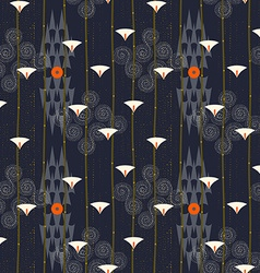 Abstract seamless pattern Modern style motif Lotus vector image