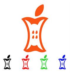 apple stump icon vector image