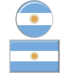 Argentinean round and square icon flag vector