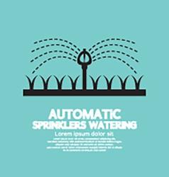 Automatic Sprinklers Watering vector