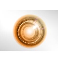 Background brown light center star vector