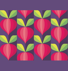 background vegetables mid-century modern art vector image