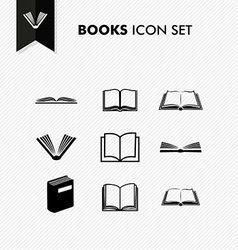 Basic books icon set isolated vector
