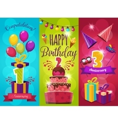 Birthday Party Banners Set vector image