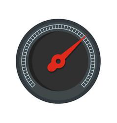 Black speedometer icon flat style vector