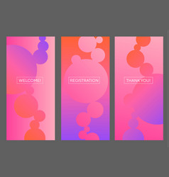 Bright vivivd pink and purple abstract bubbles vector