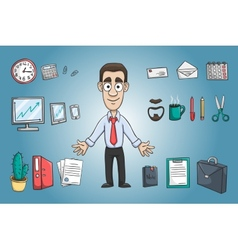 Business man character pack vector image
