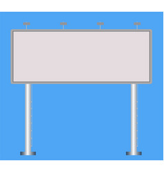 Business white big billboard for advertising on vector