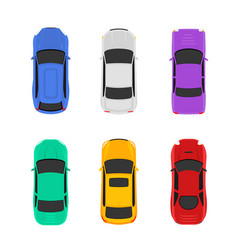 car top view icon vehicle vector image