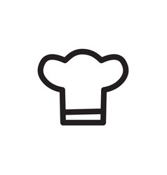 chef hats icon in flat style for apps ui websites vector image