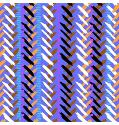 Chevron hand painted seamless pattern vector