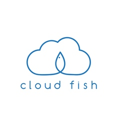 cloud and fish concept design template vector image