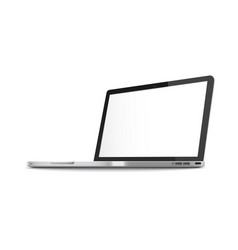 computer notebook or laptop blank monitor 3d vector image