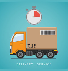 Concept of the shipping service vector