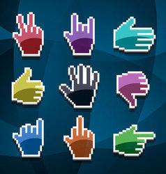 cursor hands vector image