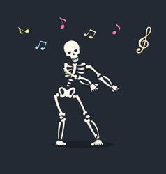 Dancing skeleton 3 vector