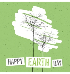 Design for Earth Day Concept Poster With Trees On vector