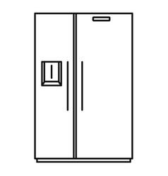Double door fridge icon outline style vector
