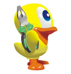 Duck with nippers vector