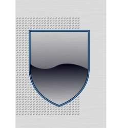 Empty metal shield vector image