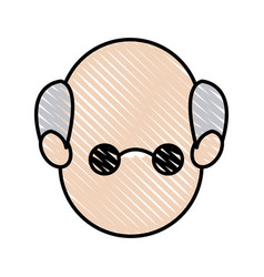 Face head man father male image vector
