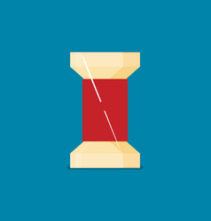 flat bobbin with needle thread vector image
