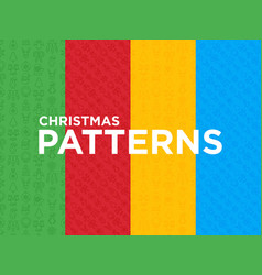 four different christmas seamless patterns vector image