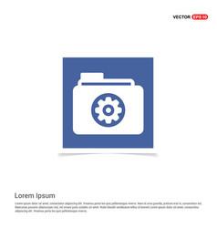 Gear box icon - blue photo frame vector